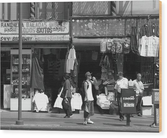 Wood Print featuring the photograph On Broadway Los Angeles Style by Lorraine Devon Wilke