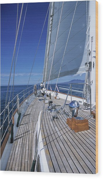 On Deck Off Mexico Wood Print