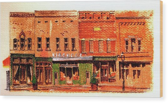 On Market Square Wood Print