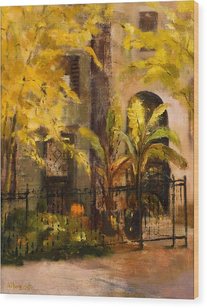 On Orleans In Old Town  Wood Print by Nancy Albrecht