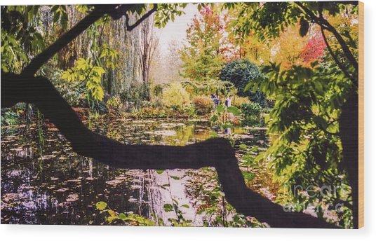 On Oscar - Claude Monet's Garden Pond  Wood Print
