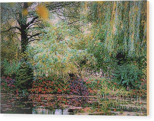 Reflection On, Oscar - Claude Monet's Garden Pond Wood Print