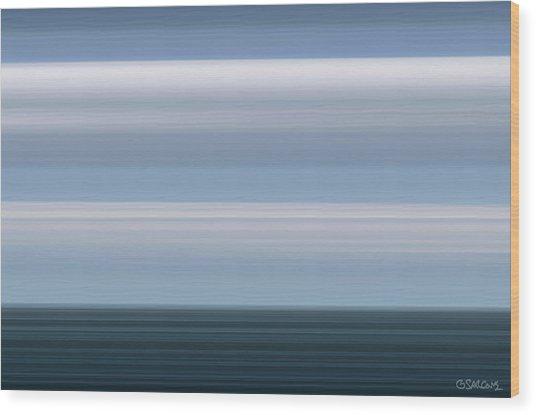 On Sea Wood Print