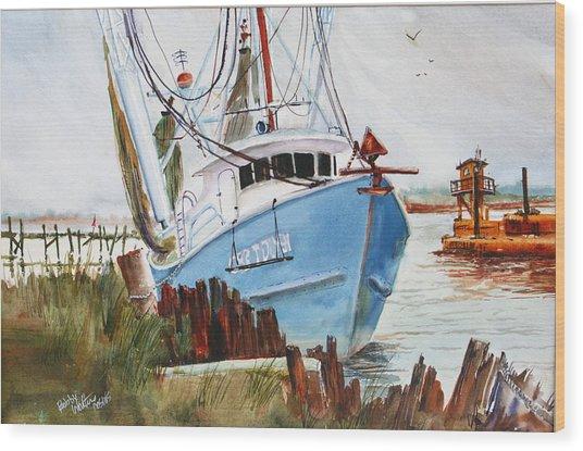 On The Back Bay Biloxi Wood Print