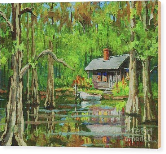 On The Bayou Wood Print