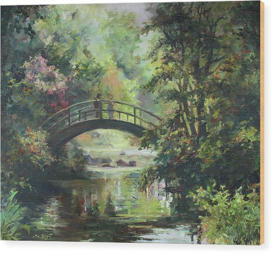 On The Bridge Wood Print