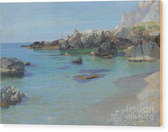 On The Capri Coast Wood Print