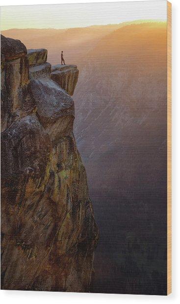 On The Edge Wood Print