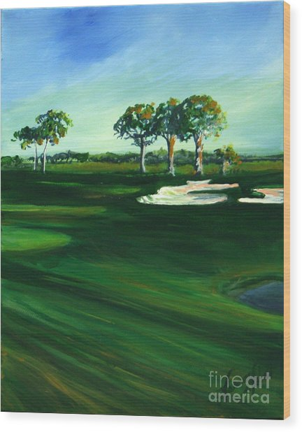 On The Fairway Wood Print by Michele Hollister - for Nancy Asbell