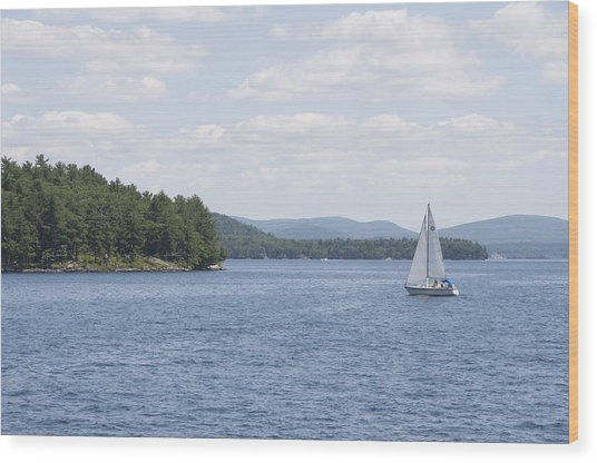 On The Lake Wood Print by Paul Godin