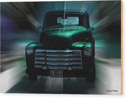 On The Move Truck Art Wood Print