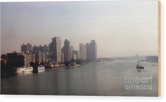 On The Nile River Wood Print