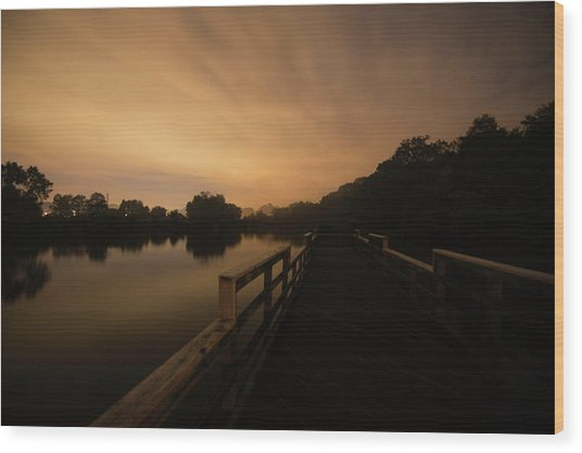 On The Pier Wood Print