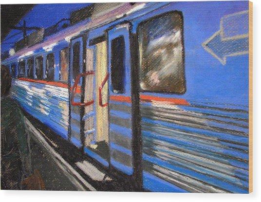 On The Platform Wood Print by Art Nomad Sandra  Hansen
