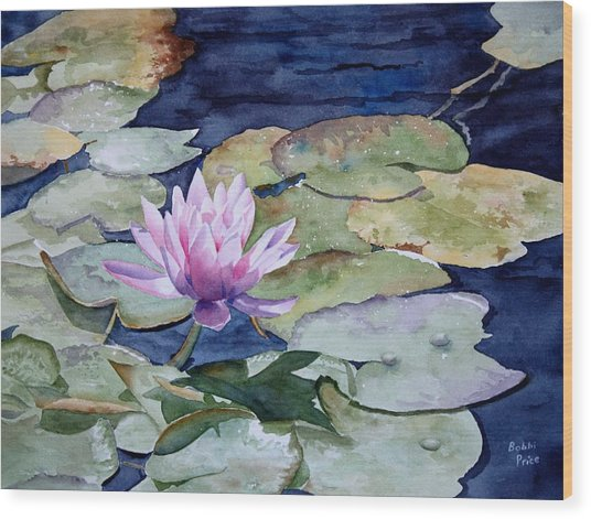 On The Pond Wood Print by Bobbi Price