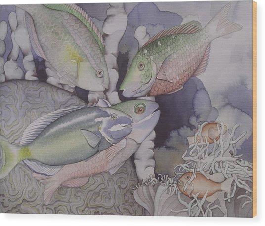 On The Reef Wood Print by Liduine Bekman