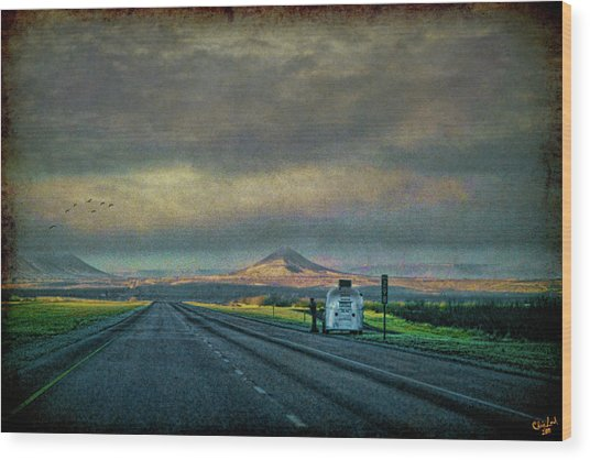 On The Road Again Wood Print