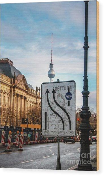 On The Road In Berlin Wood Print