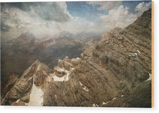 On The Top Of The Mountain  Wood Print