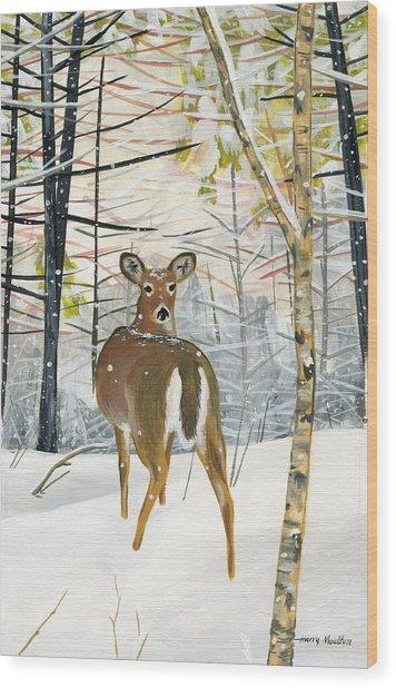 On The Trail Wood Print