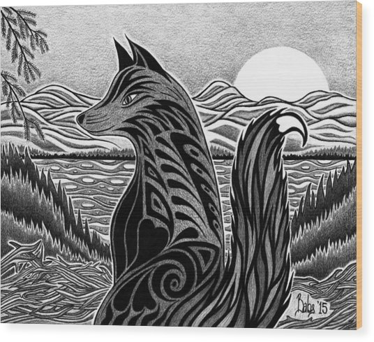On The Watch Wood Print