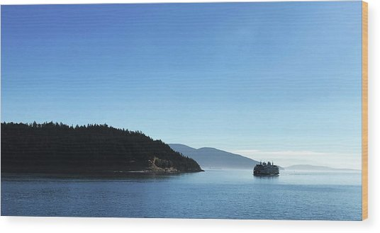 Wood Print featuring the photograph On The Way To Orcas by Lorraine Devon Wilke