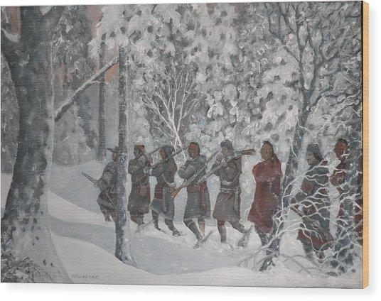 On The Way To Schenectady Wood Print by Giacomo Alessandro Morotti