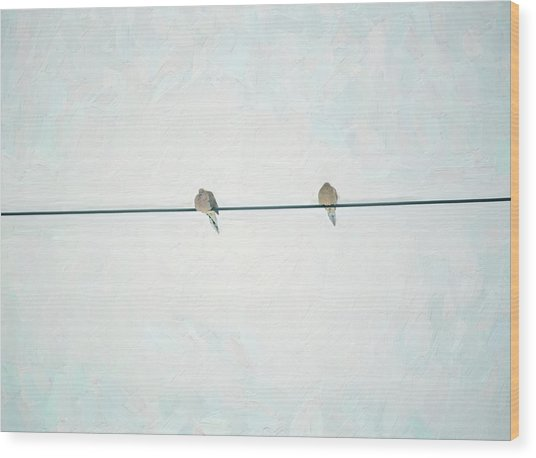 On The Wire Wood Print
