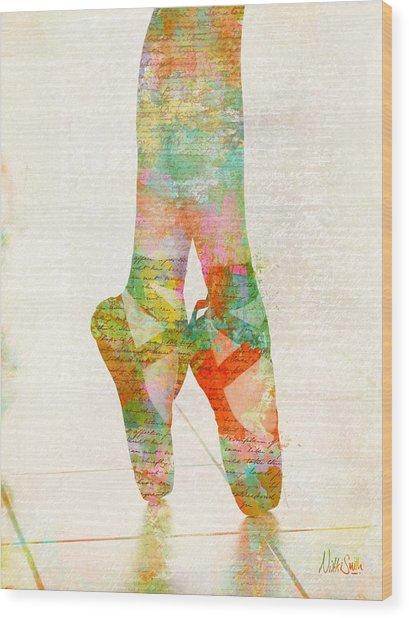 On Tippie Toes Wood Print