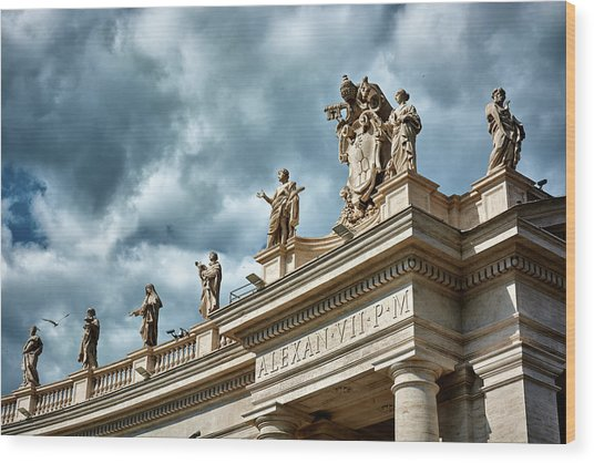 On Top Of The Tuscan Colonnades Wood Print