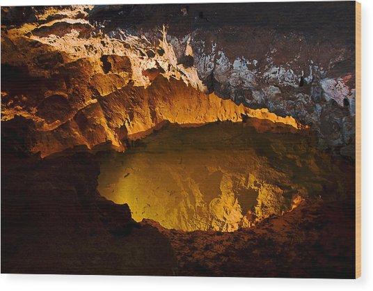 Onandaga Cave Pool Wood Print
