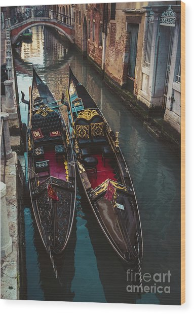 Once In Venice Wood Print