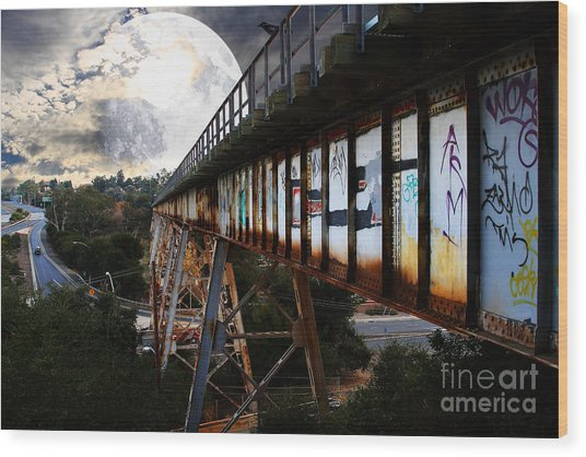 Once Upon A Time In Any Town Usa Wood Print