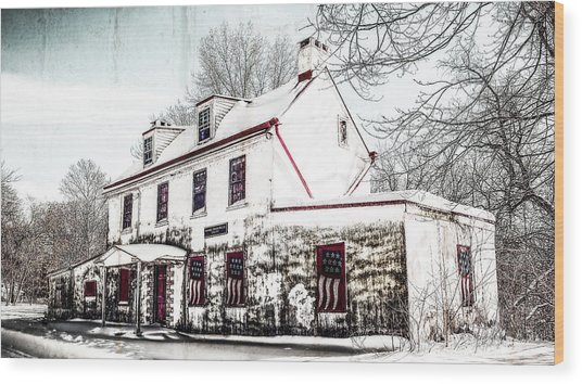 Vennell Tavern House 1795 Wood Print