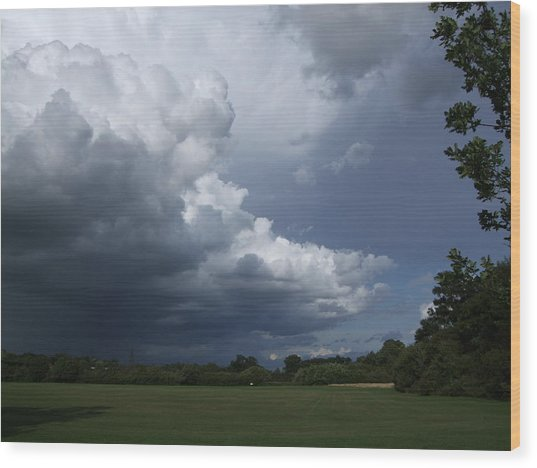Oncoming Storm Wood Print by Deborah Brewer