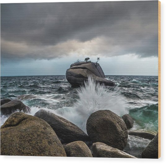 Oncoming Storm Wood Print