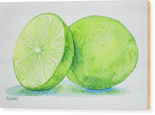 One And A Half Limes Wood Print