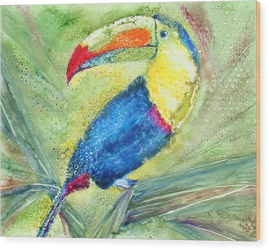One Can't But Toucan Wood Print