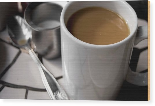 One Cup Of Coffee Wood Print by JAMART Photography