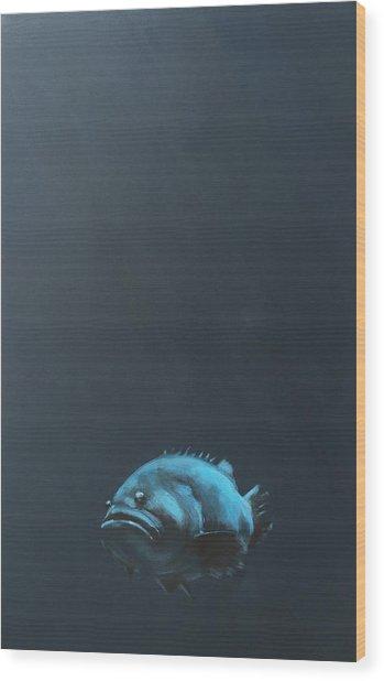 One Fish Wood Print