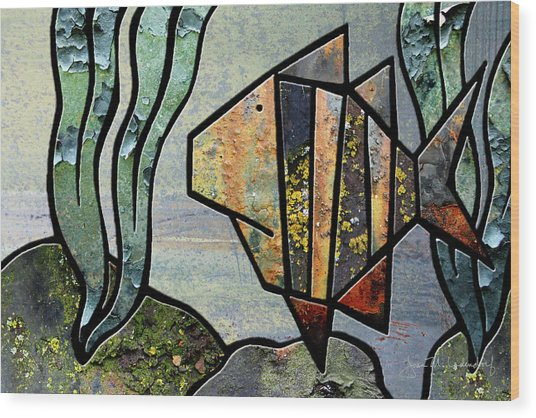 One Fish Wood Print