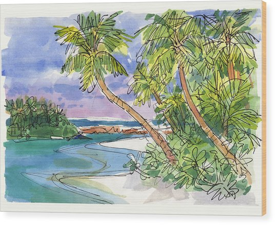 One-foot-island, Aitutaki Wood Print