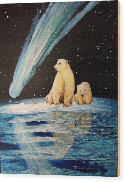 One Mile From The Top Of Alaska Wood Print by Dianne Roberson