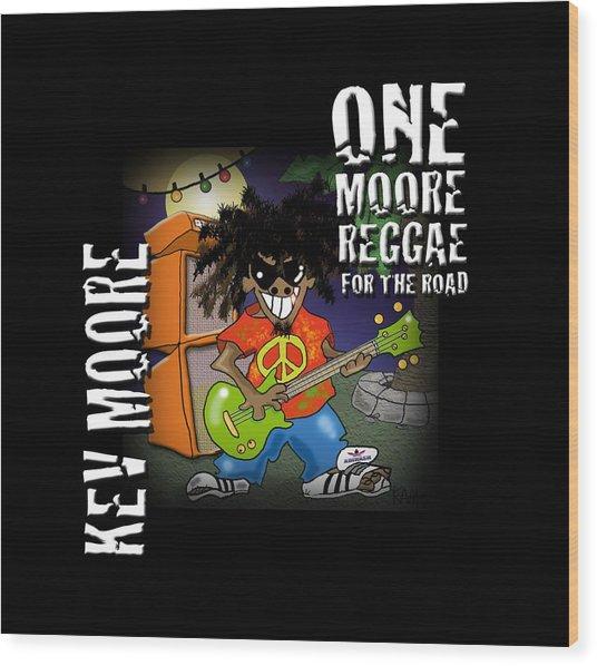 One Moore Reggae Wood Print