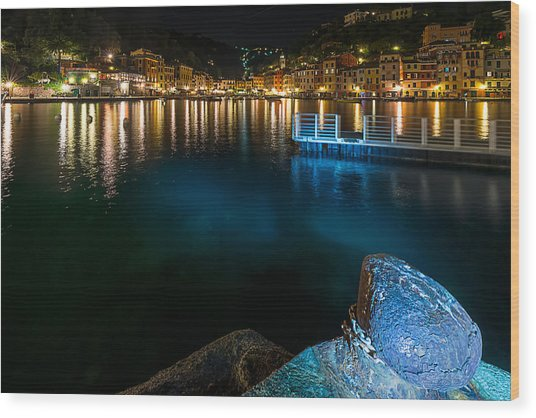 One Night In Portofino - Una Notte A Portofino Wood Print