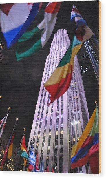One Rockefeller Center Wood Print by Jacqueline M Lewis