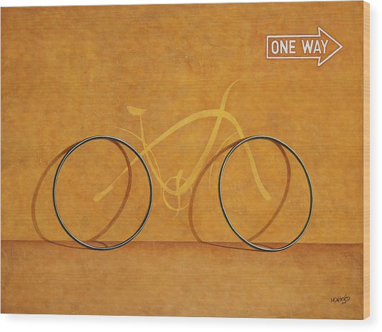 One Way Wood Print by Horacio Cardozo
