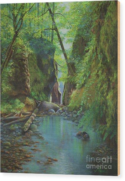 Oneonta Gorge Wood Print