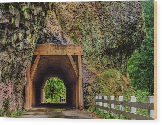 Oneonta Tunnel Wood Print