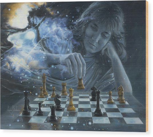 Only A Game Wood Print by Lucie Bilodeau